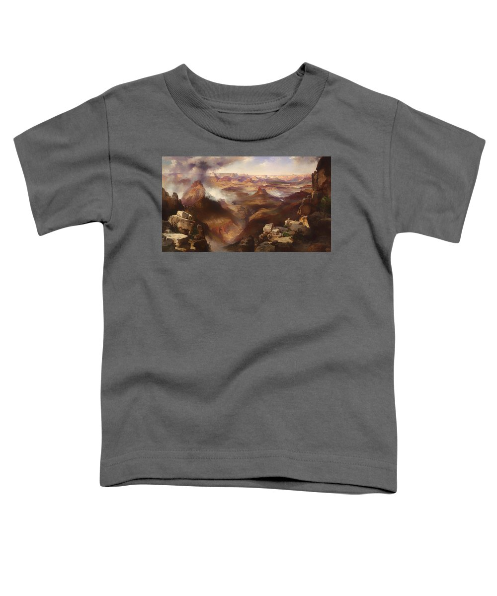 Painting Toddler T-Shirt featuring the painting Grand Canyon Of The Colorado River 1 by Mountain Dreams
