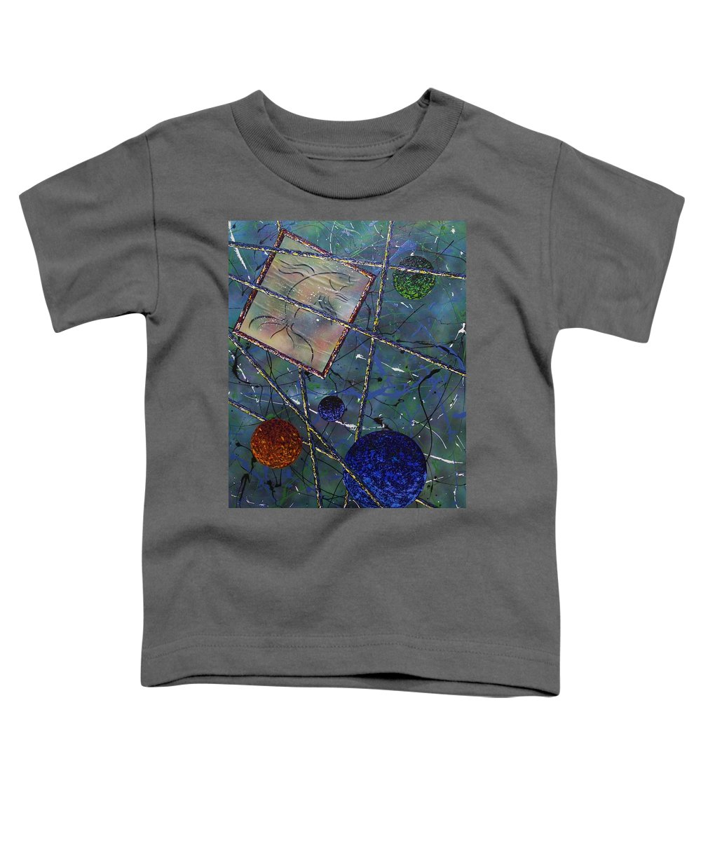 Fish Toddler T-Shirt featuring the painting Pisces by Micah Guenther