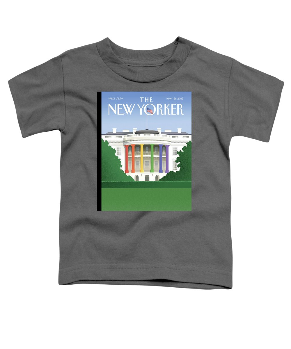 President Toddler T-Shirt featuring the painting Spectrum Of Light by Bob Staake