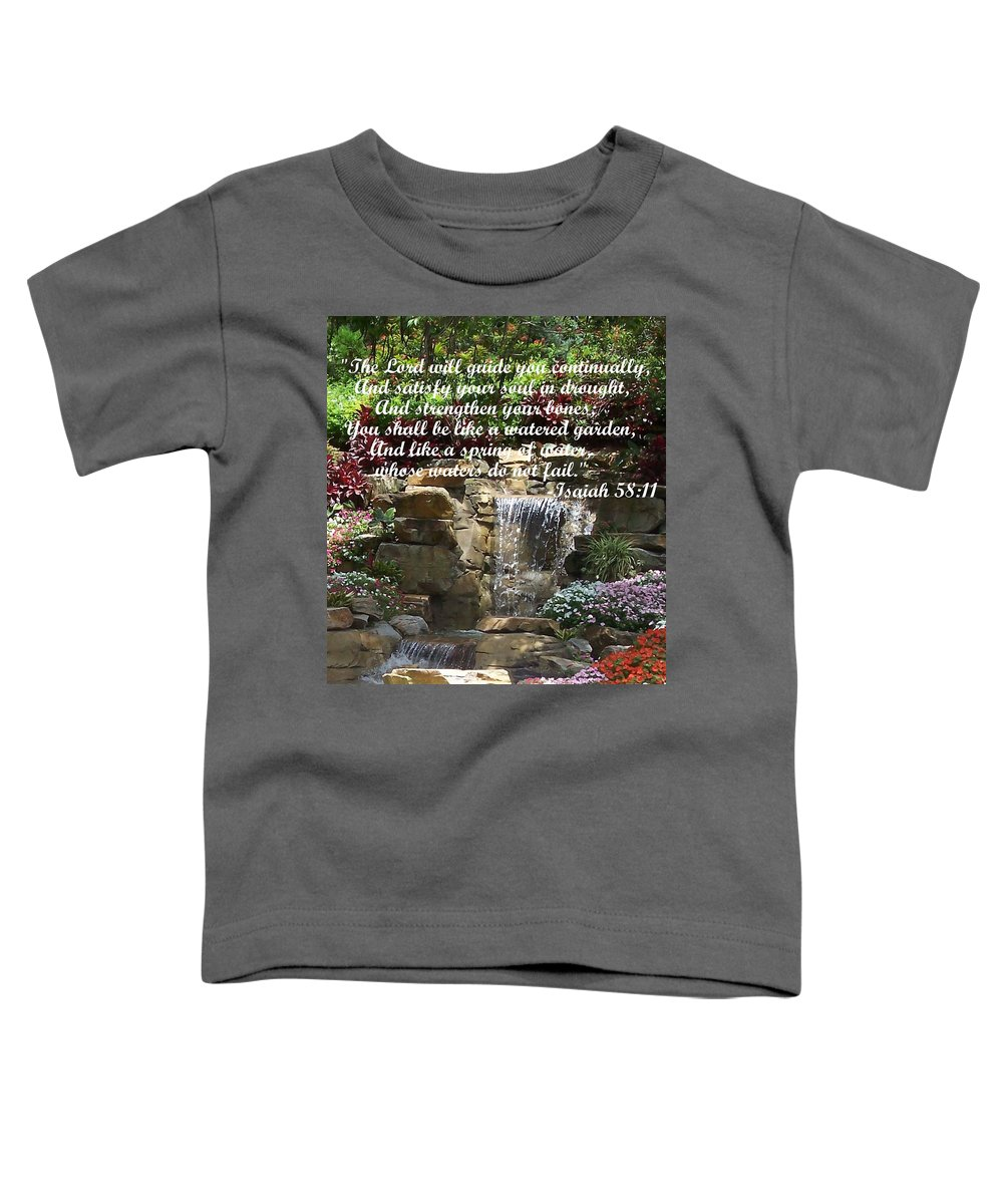 Inspirational Toddler T-Shirt featuring the photograph Watered Garden by Pharris Art