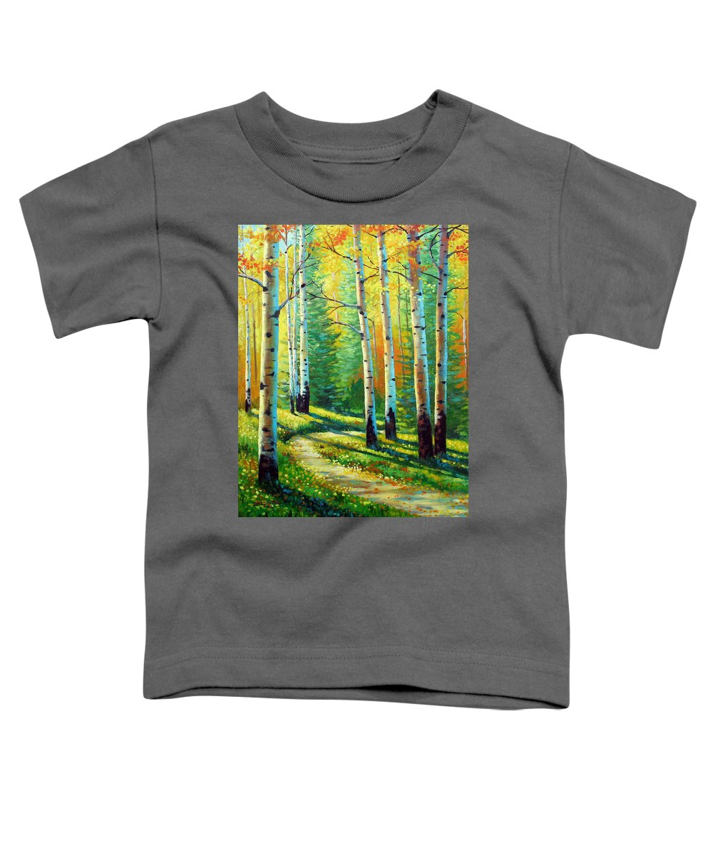 Landscape Toddler T-Shirt featuring the painting Colors Of The Season by David G Paul