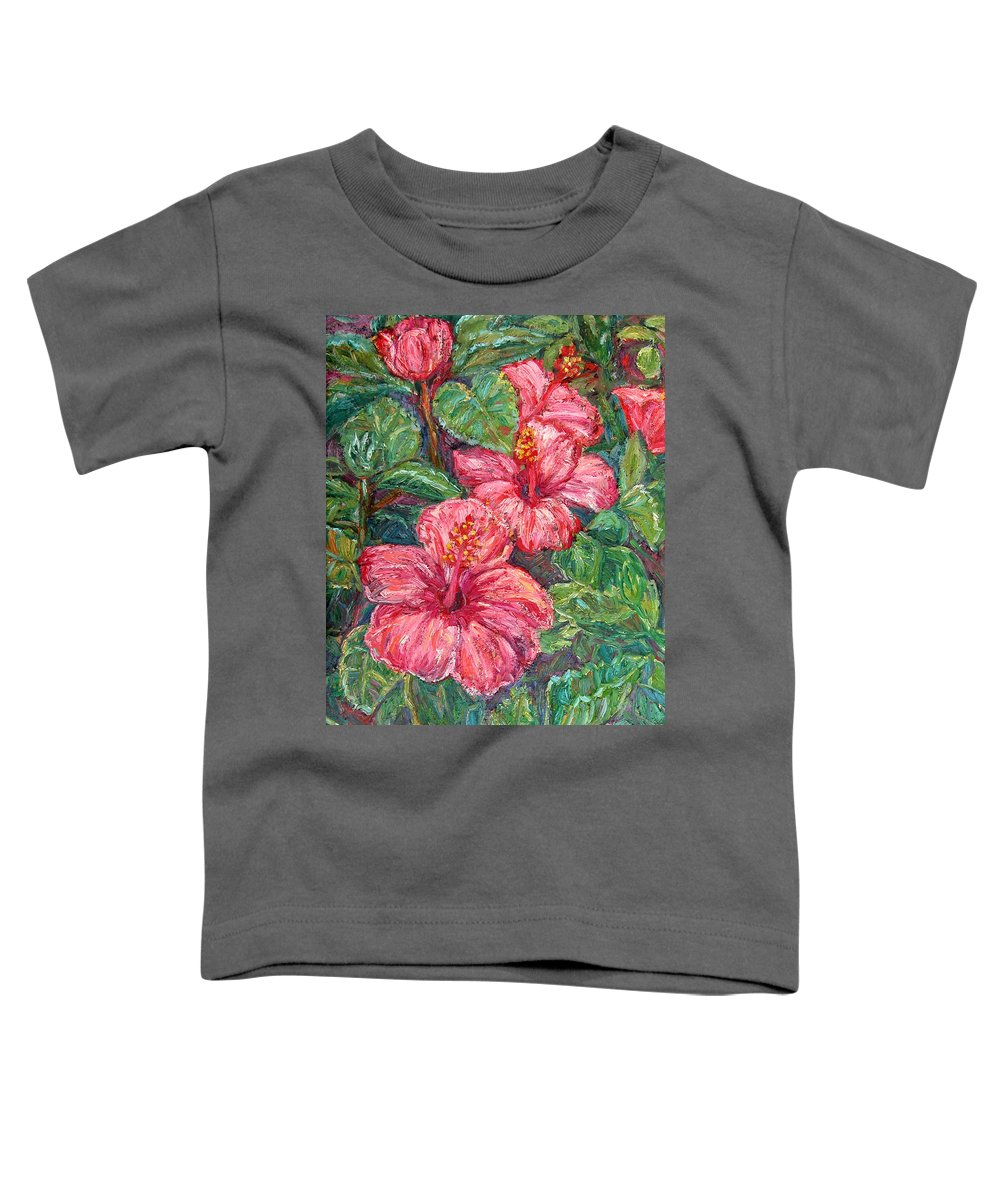 Hibiscus Toddler T-Shirt featuring the painting Hibiscus by Kendall Kessler