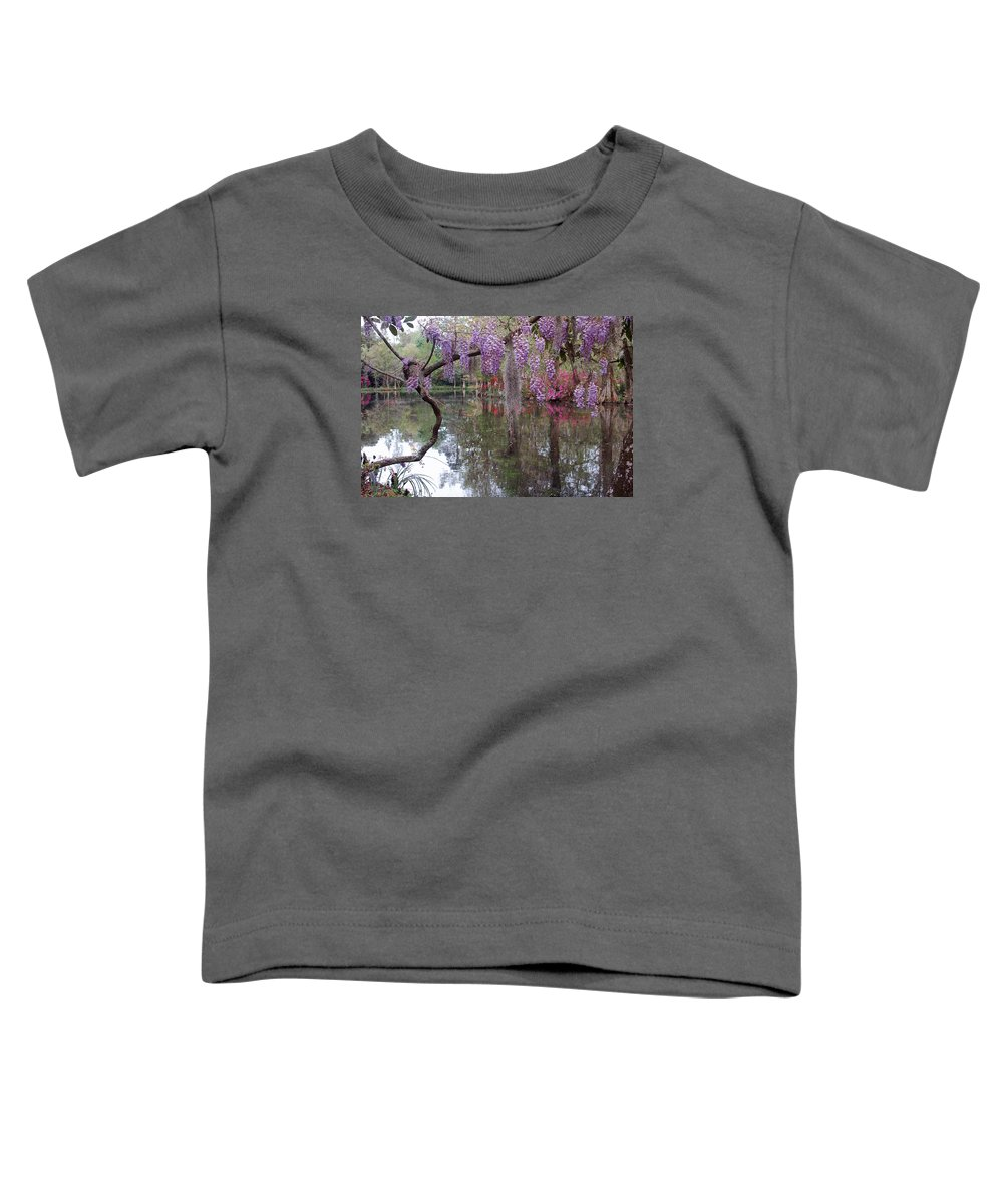 Wisteria Toddler T-Shirt featuring the photograph Magnolia Plantation Gardens Series II by Suzanne Gaff