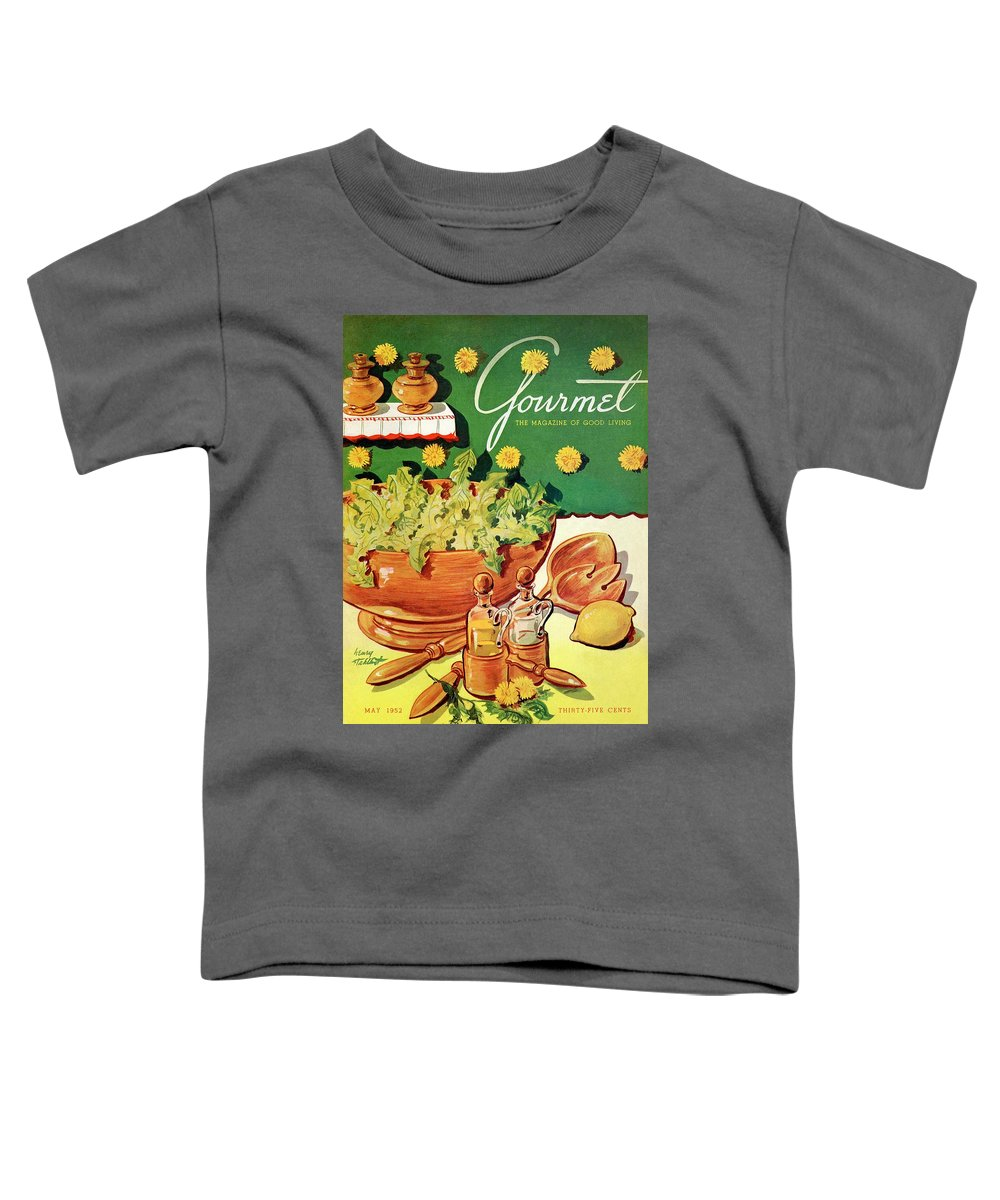 Food Toddler T-Shirt featuring the photograph A Gourmet Cover Of Dandelion Salad by Henry Stahlhut