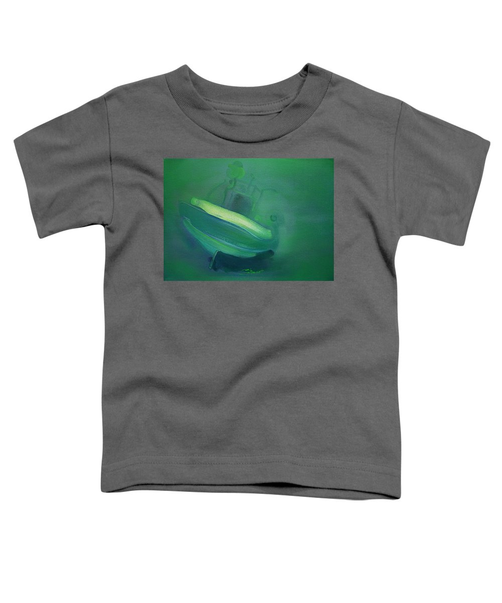 Fishing Boat Toddler T-Shirt featuring the painting Alvor Working Boat by Charles Stuart