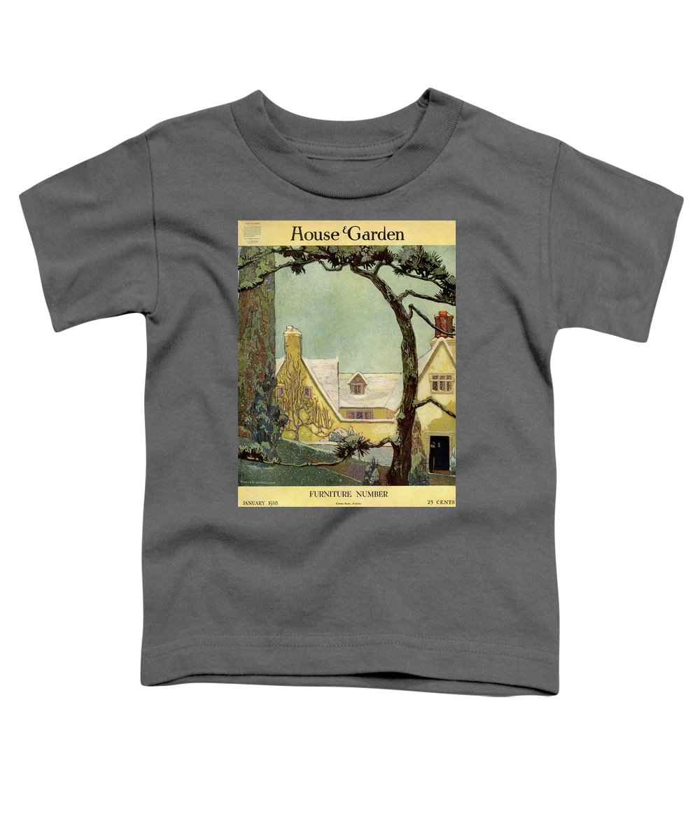 House And Garden Toddler T-Shirt featuring the photograph An English Country House by Porter Woodruff