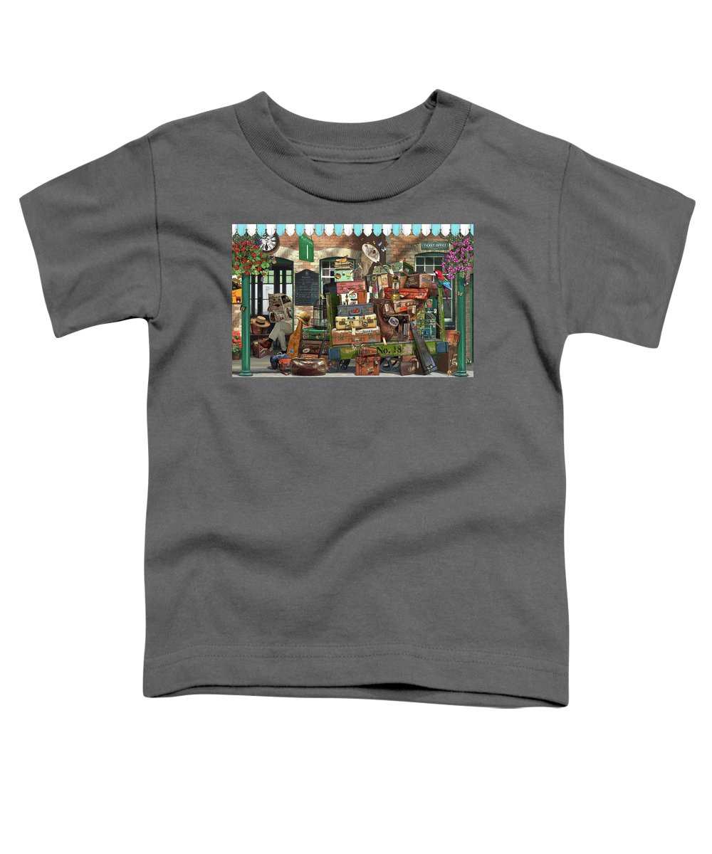 Garry Walton Toddler T-Shirt featuring the drawing At The Train Station by MGL Meiklejohn Graphics Licensing