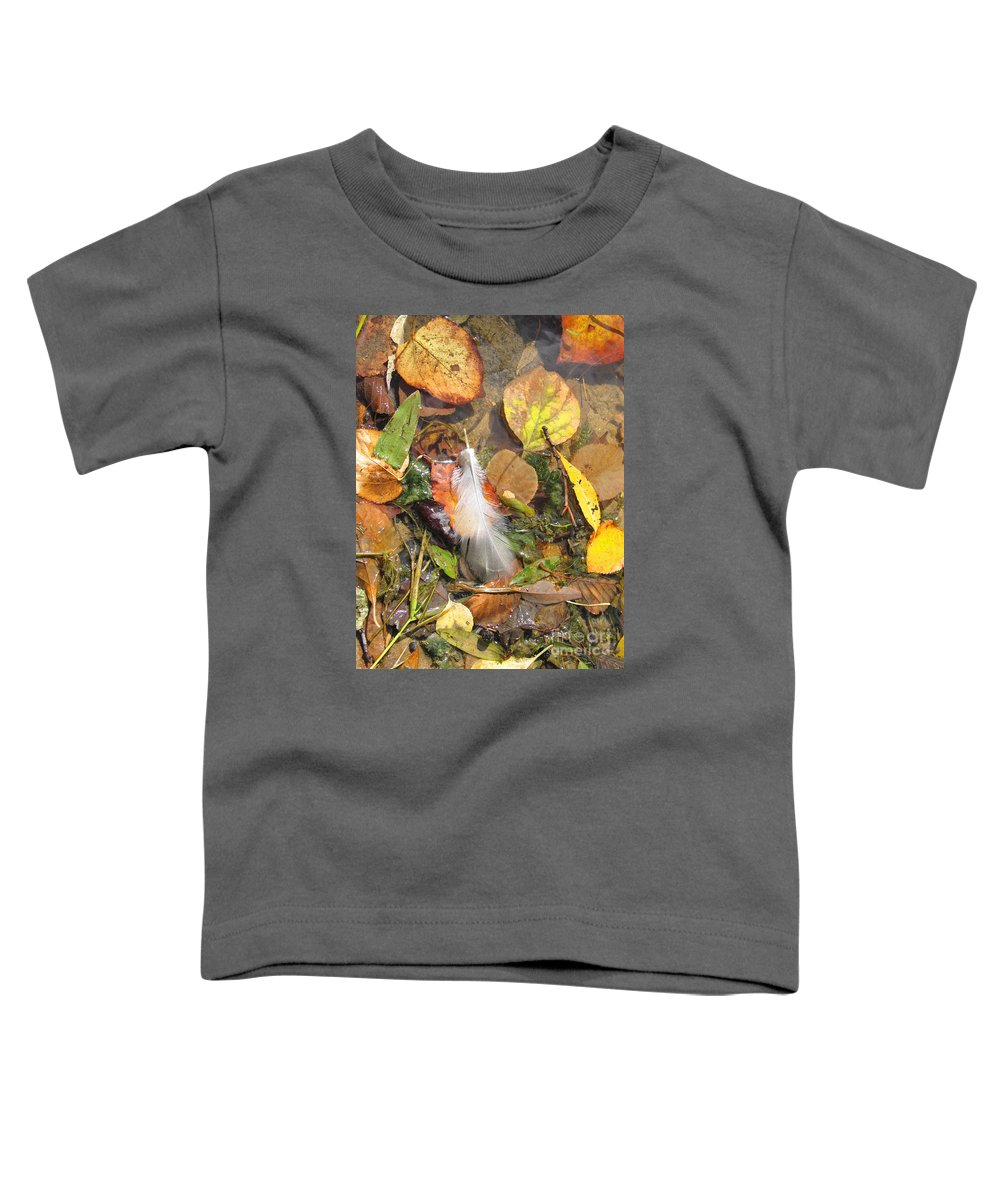 Autumn Toddler T-Shirt featuring the photograph Autumn Leavings by Ann Horn