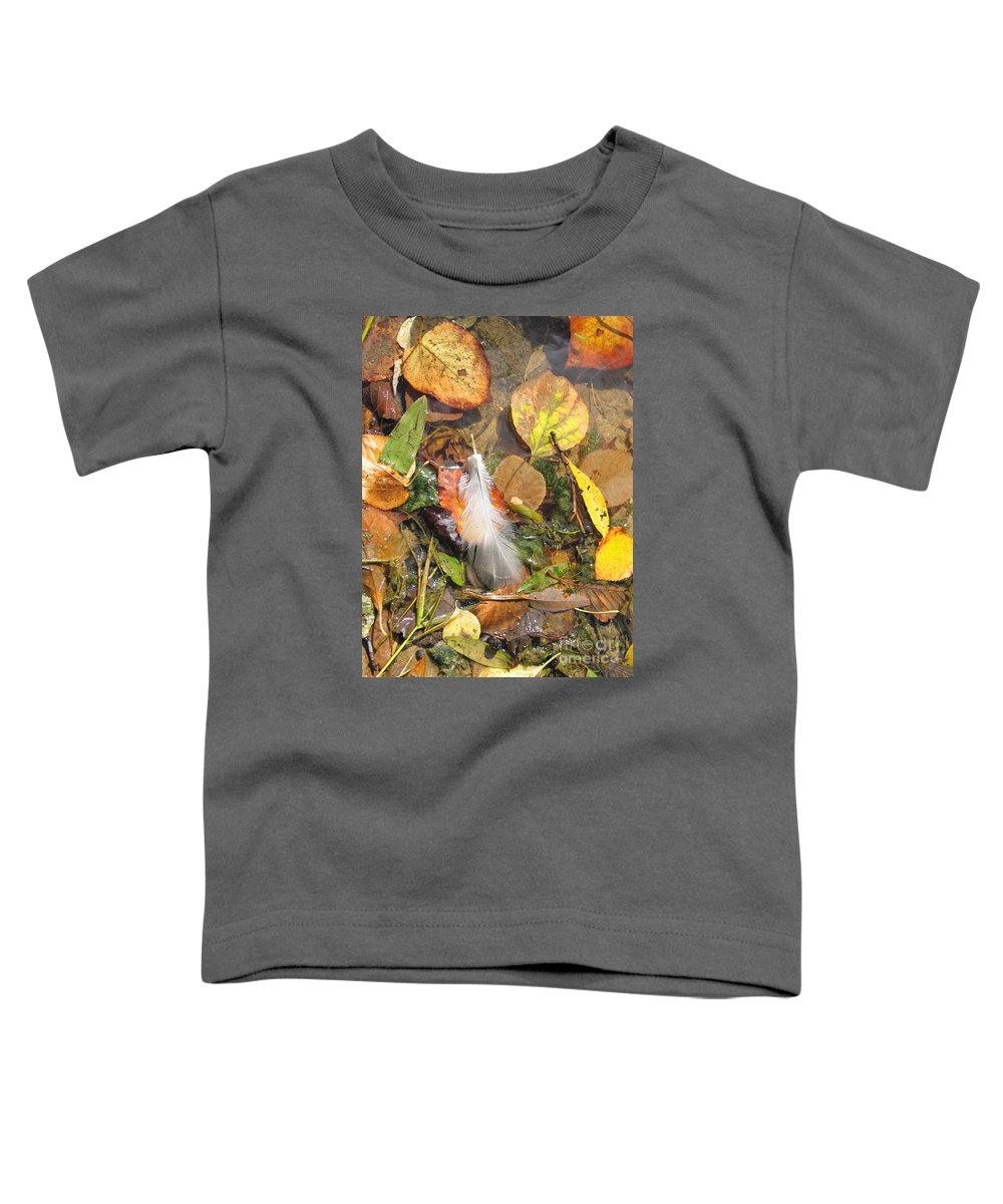 Autumn Toddler T-Shirt featuring the photograph Autumn Leavings by Ann Horn