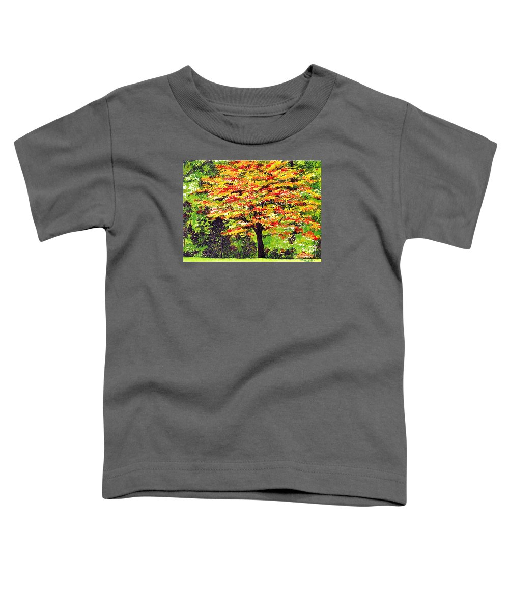 Fine Art Toddler T-Shirt featuring the painting Autumn Splendor by Patricia Griffin Brett
