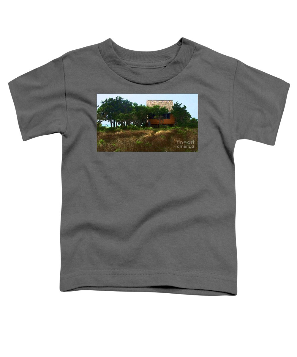 Beach Toddler T-Shirt featuring the photograph Back To The Island by Debbi Granruth