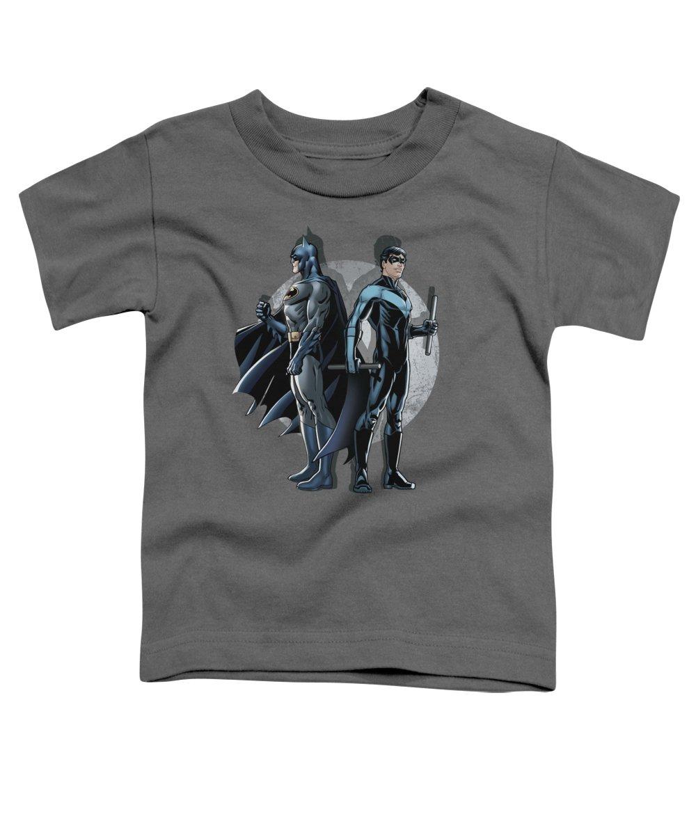 Batman Toddler T-Shirt featuring the digital art Batman - Spotlight by Brand A
