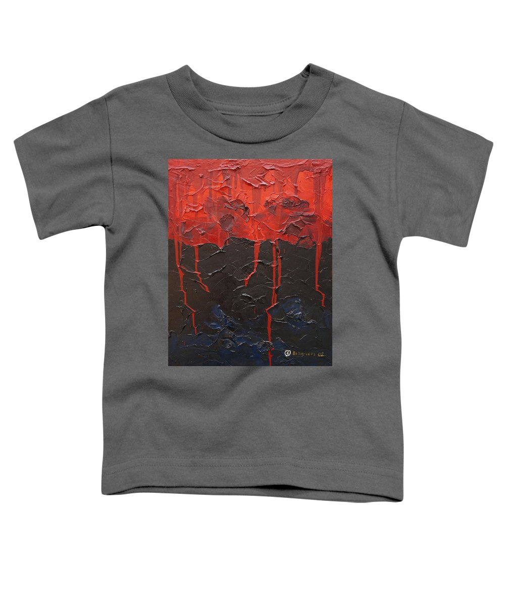 Fantasy Toddler T-Shirt featuring the painting Bleeding Sky by Sergey Bezhinets