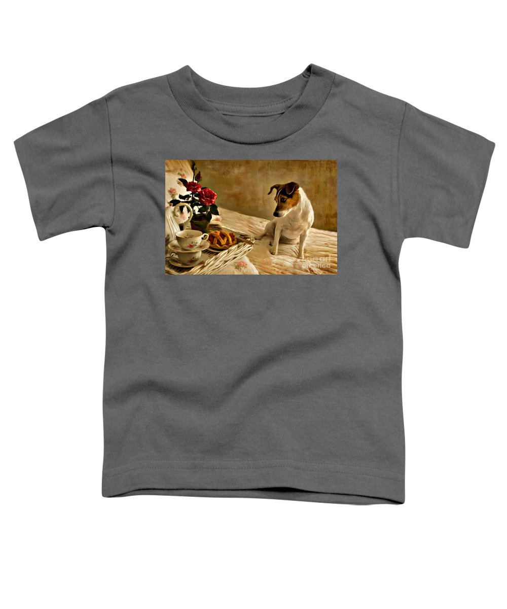 Toddler T-Shirt featuring the photograph Bon Appetit by Jean Hildebrant