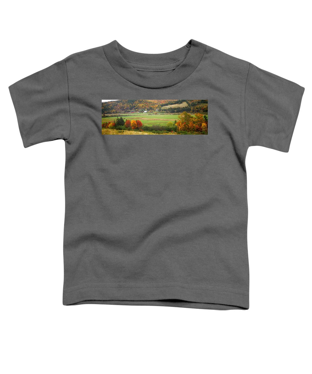 Photography Toddler T-Shirt featuring the photograph Cape Breton Highlands Near North East by Panoramic Images