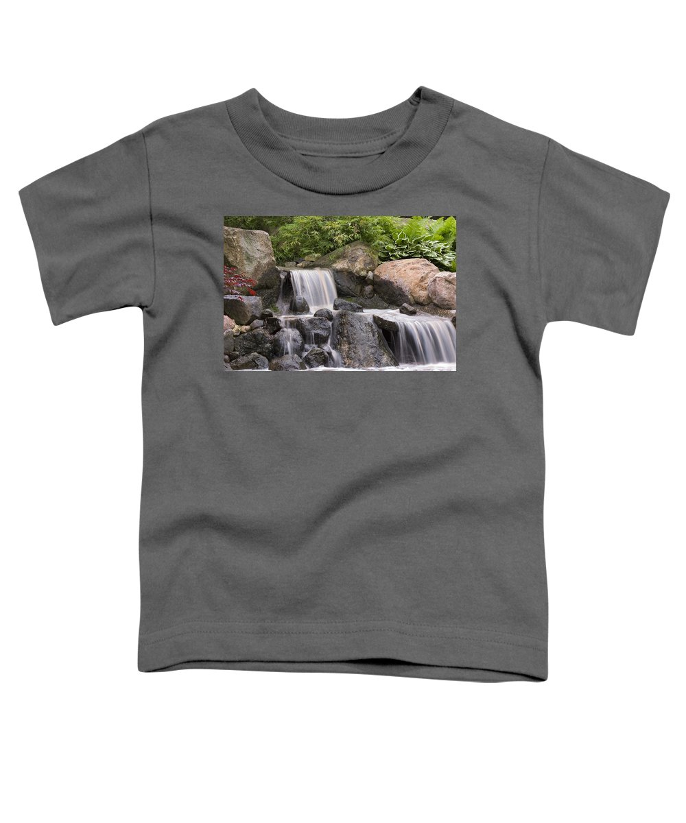 3scape Toddler T-Shirt featuring the photograph Cascade Waterfall by Adam Romanowicz