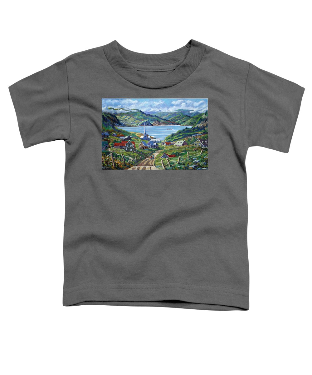 Toddler T-Shirt featuring the painting Charlevoix Scene by Richard T Pranke