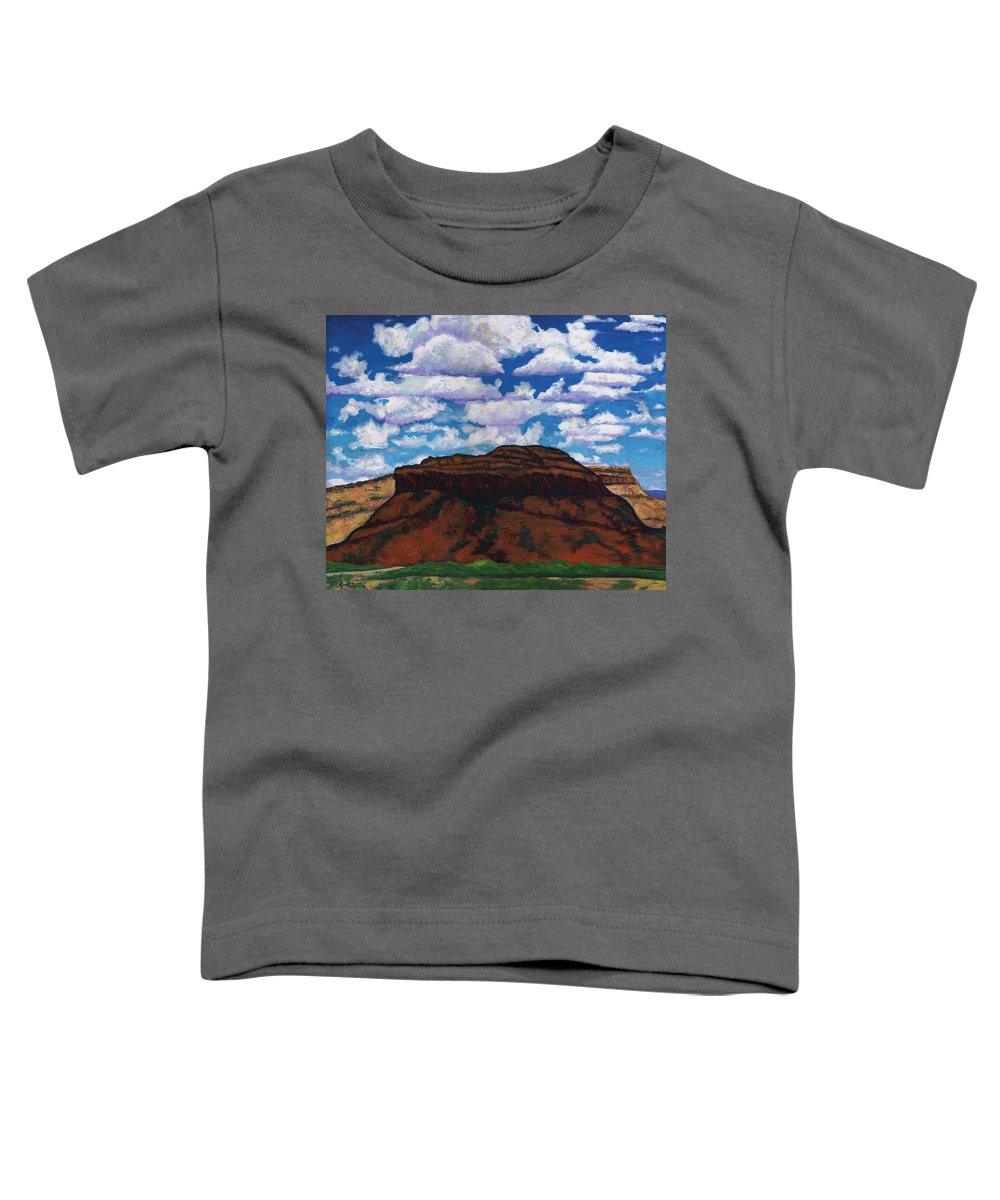 Lanscape Toddler T-Shirt featuring the painting Clouds Over Red Mesa by Joe Triano