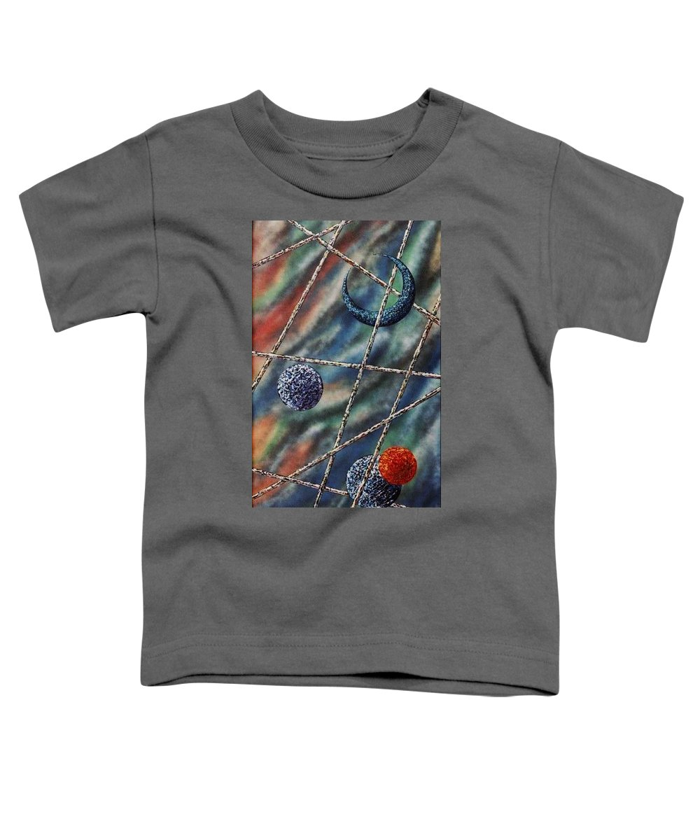 Abstract Toddler T-Shirt featuring the painting Crescent by Micah Guenther