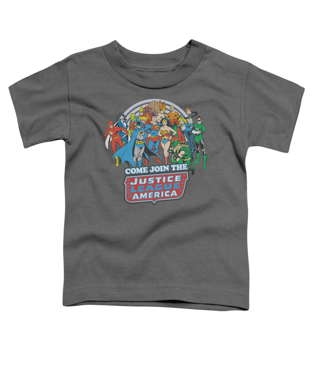 Dc Comics Toddler T-Shirt featuring the digital art Dc - Join The Justice League by Brand A