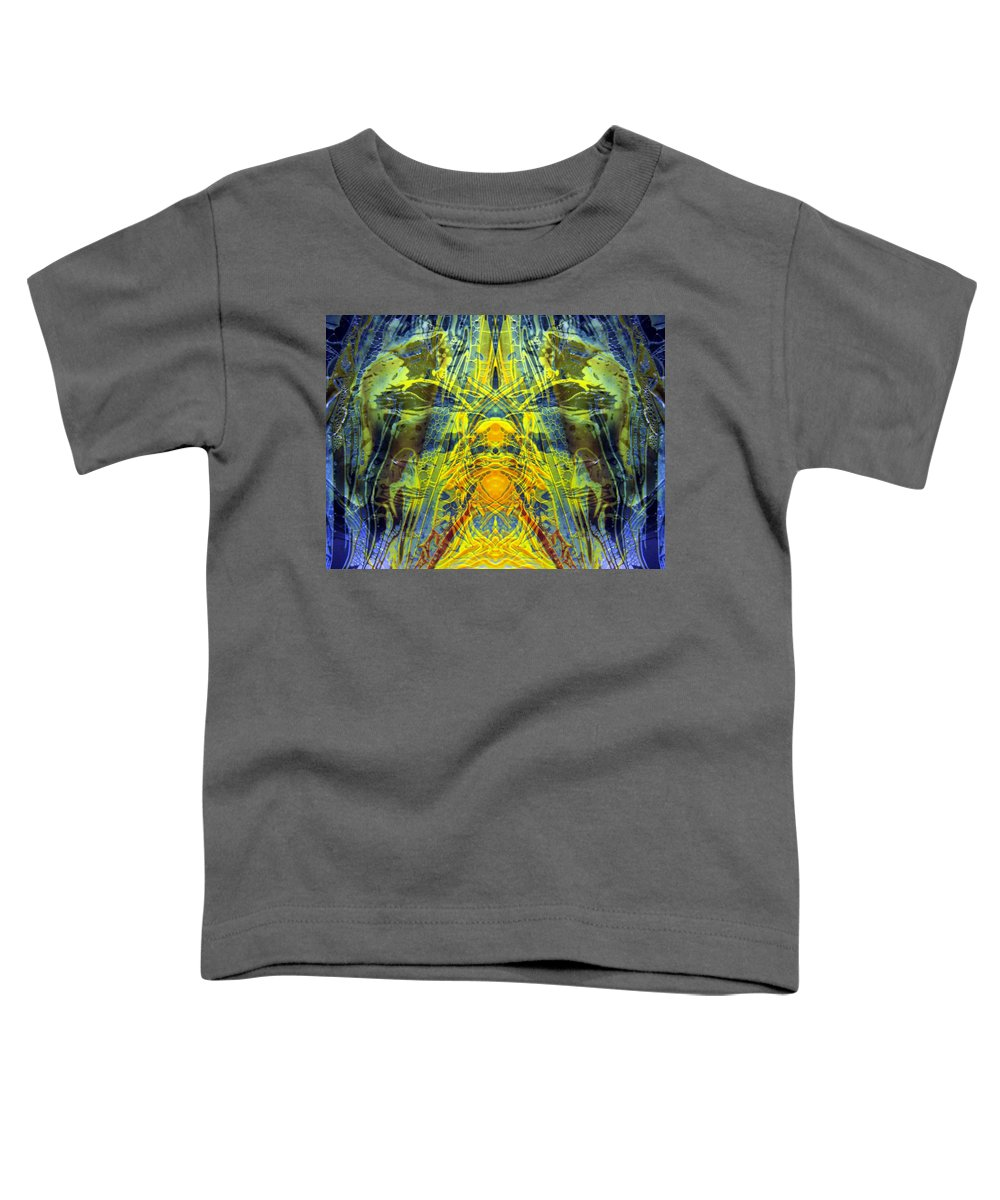 Surrealism Toddler T-Shirt featuring the digital art Decalcomaniac Intersection 1 by Otto Rapp