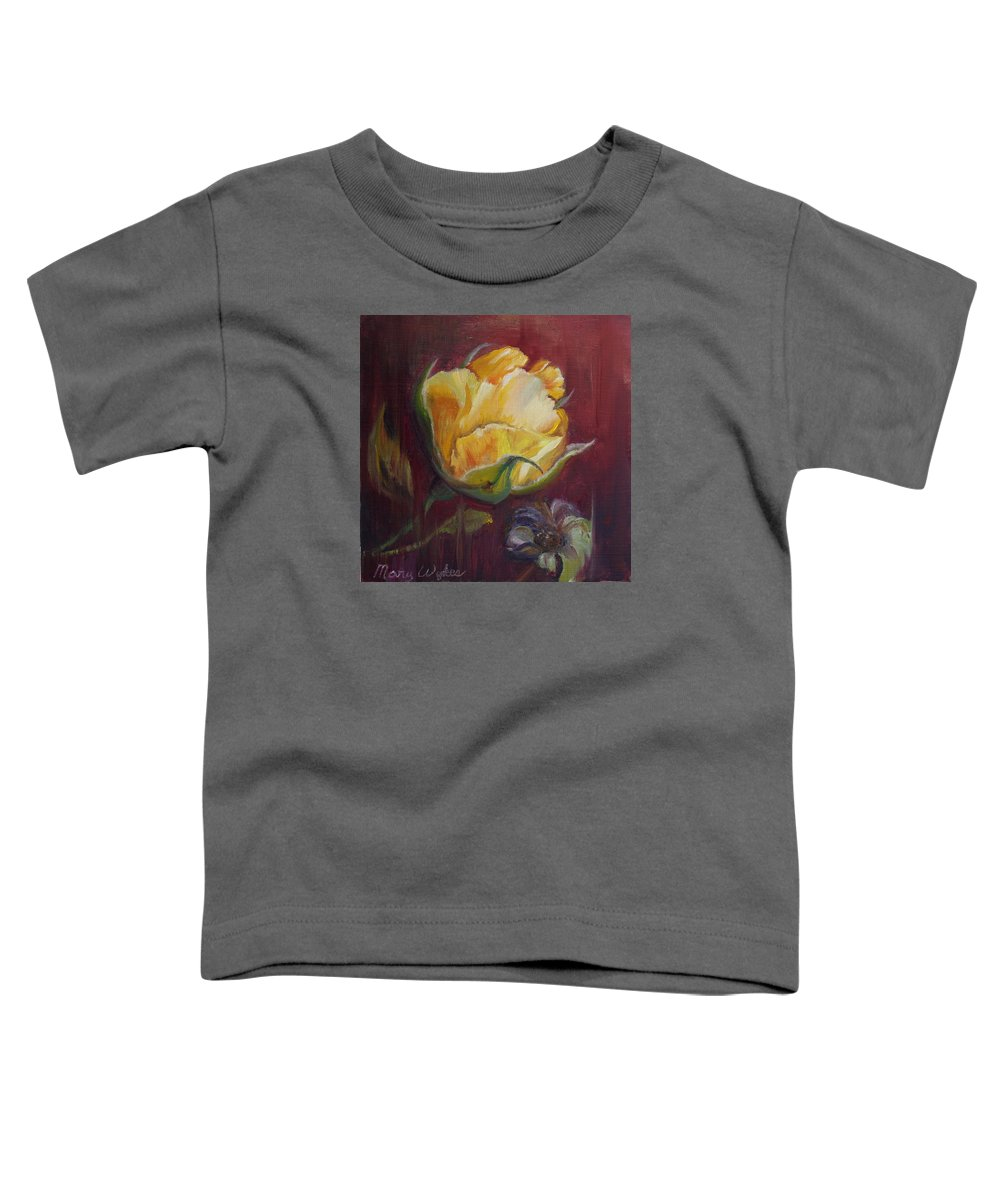 Rose Toddler T-Shirt featuring the painting Destiny by Mary Beglau Wykes
