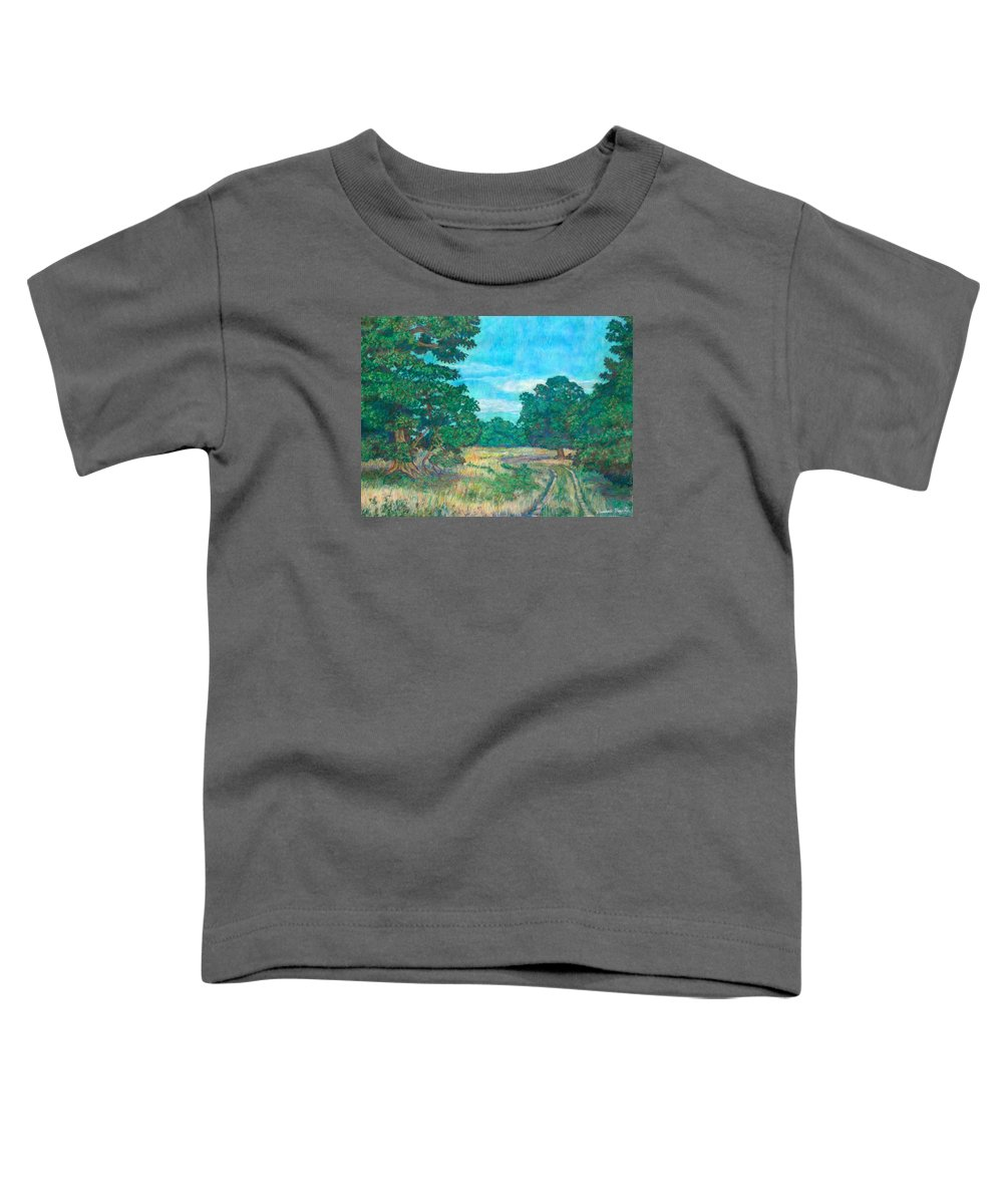 Landscape Toddler T-Shirt featuring the painting Dirt Road Near Rock Castle Gorge by Kendall Kessler