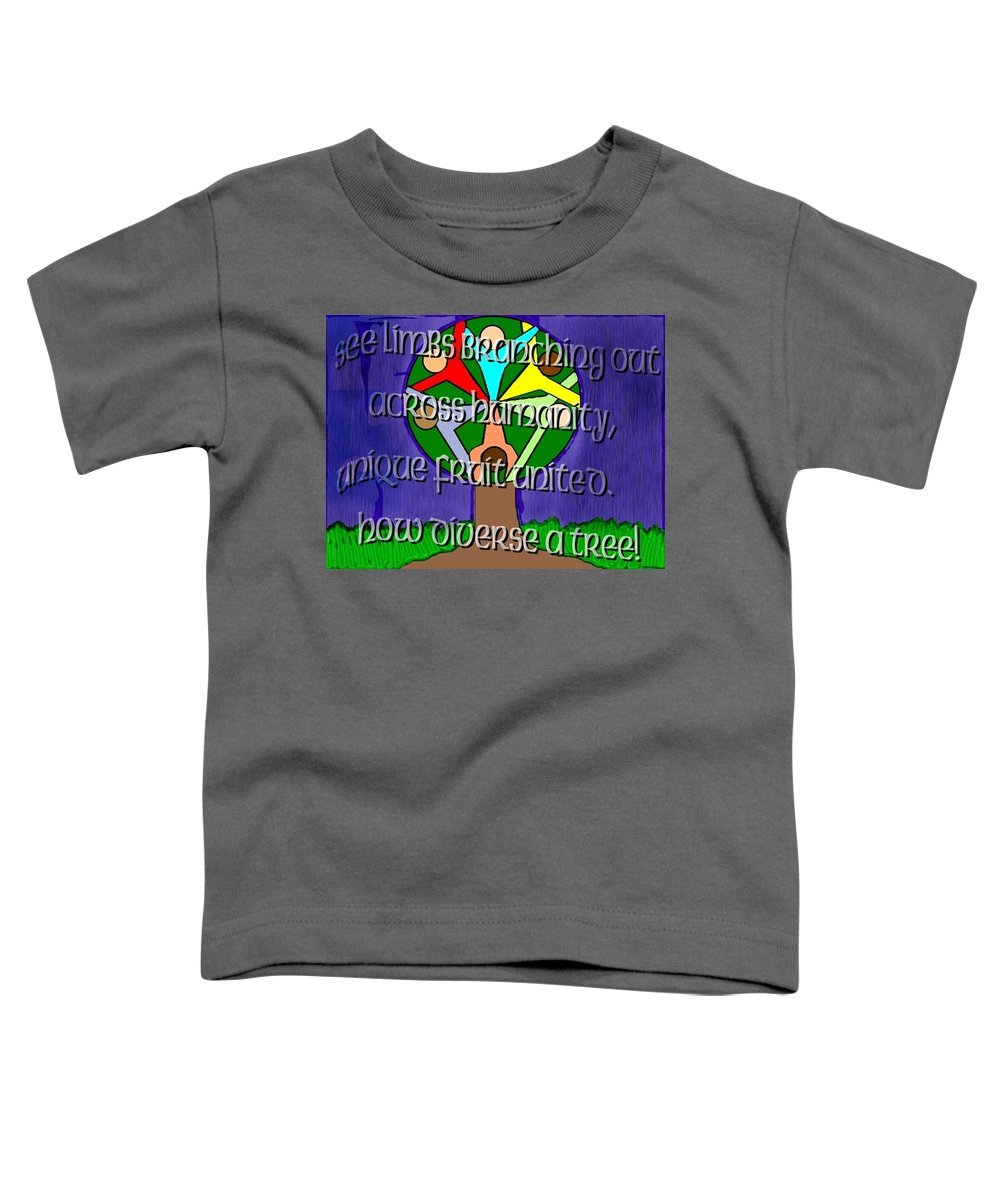 Diversity Toddler T-Shirt featuring the painting Diversity Tree by Pharris Art