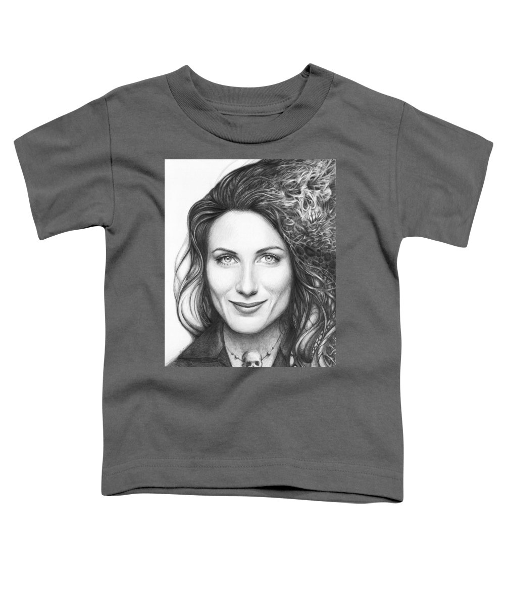 House Md Toddler T-Shirt featuring the drawing Dr. Lisa Cuddy - House Md by Olga Shvartsur