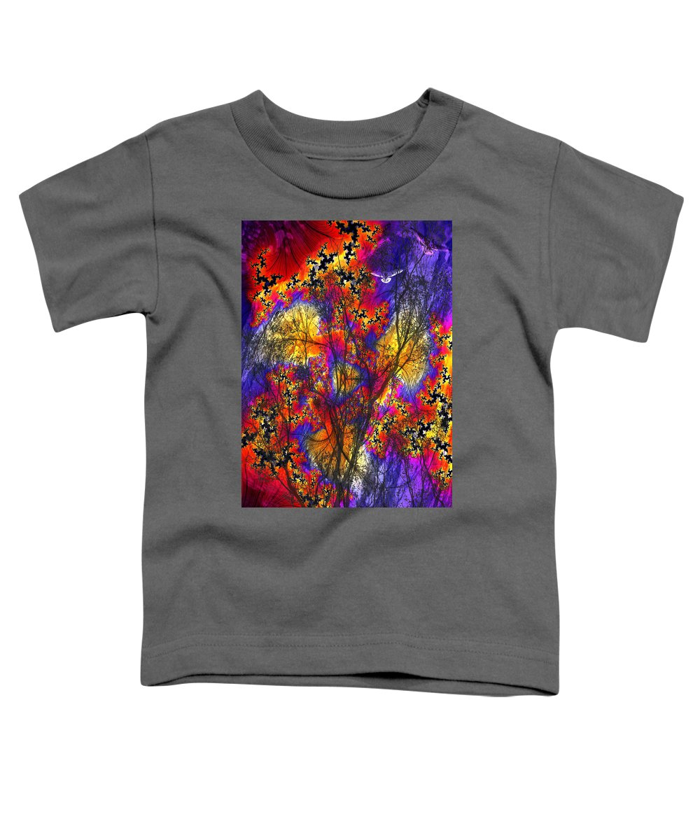 Forest Fire Toddler T-Shirt featuring the digital art Forest Fire by Lisa Yount