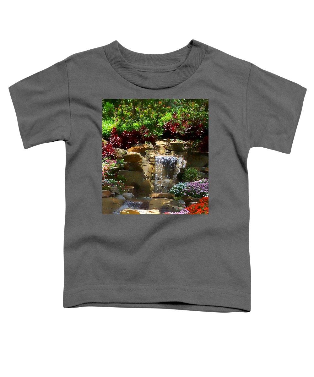 Garden Toddler T-Shirt featuring the photograph Garden Waterfalls by Pharris Art