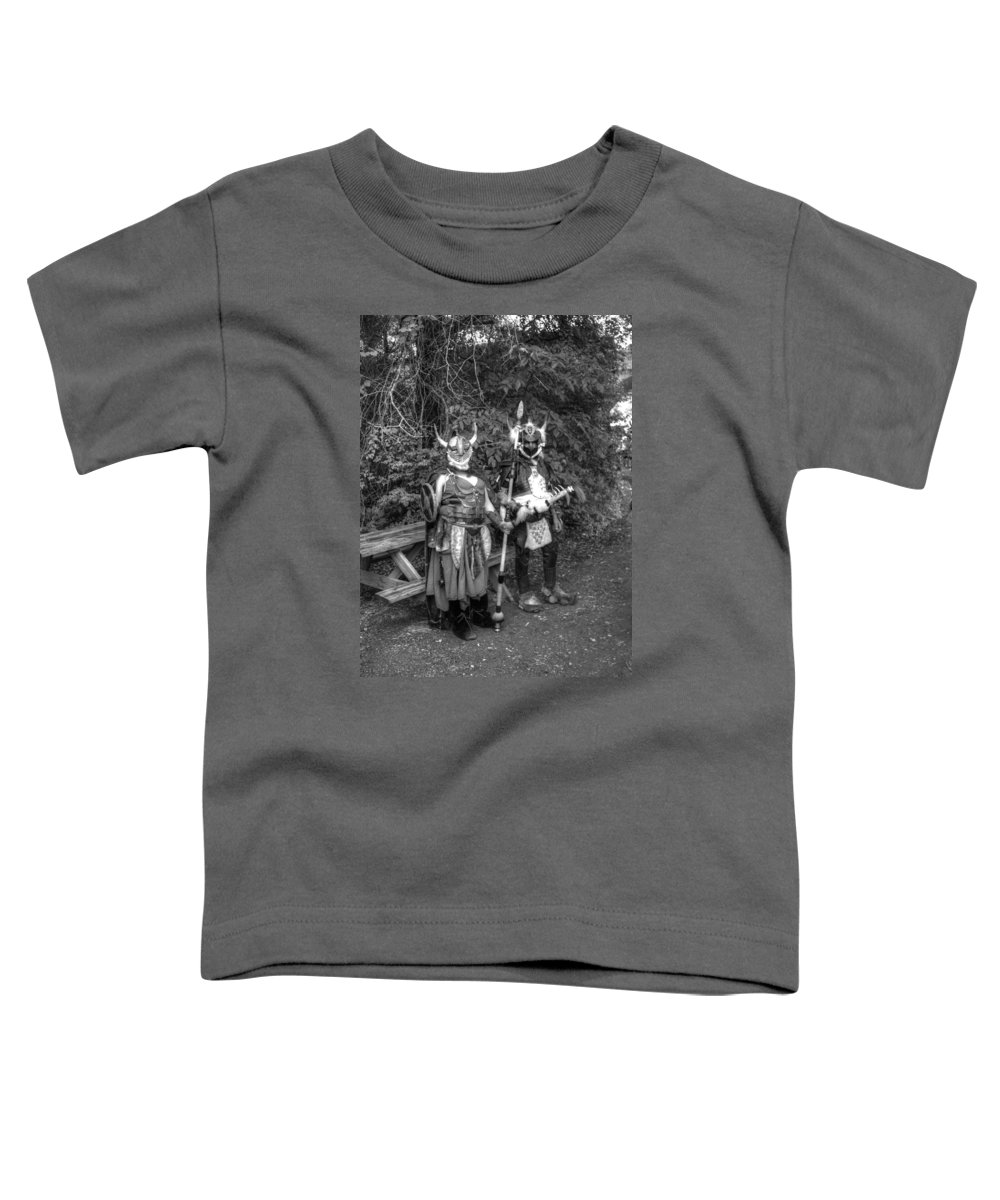Barbarian Toddler T-Shirt featuring the photograph Germanics Barbarian Knights V3 by John Straton
