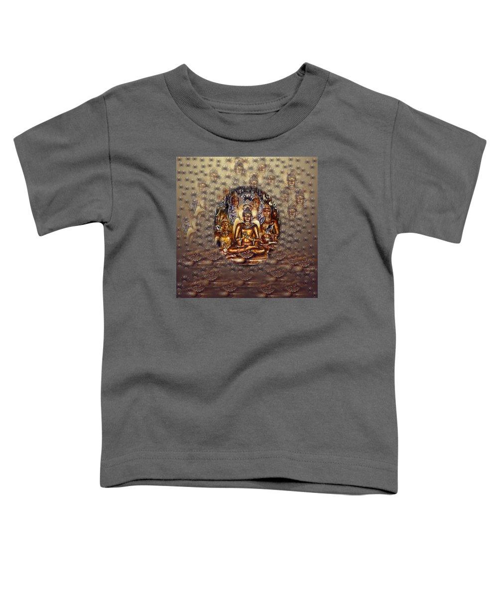 Golden Buddha Mixed Media Toddler T-Shirts