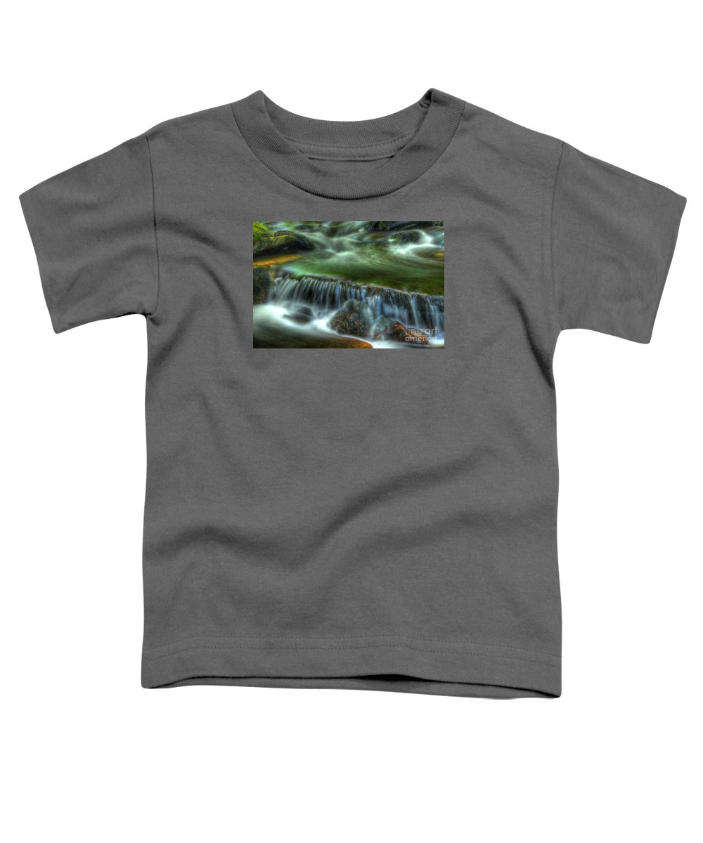Ricketts Glen Toddler T-Shirt featuring the photograph Green Waters by Paul W Faust - Impressions of Light