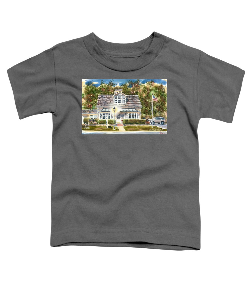 Greystone Inn Ii Toddler T-Shirt featuring the painting Greystone Inn II by Kip DeVore