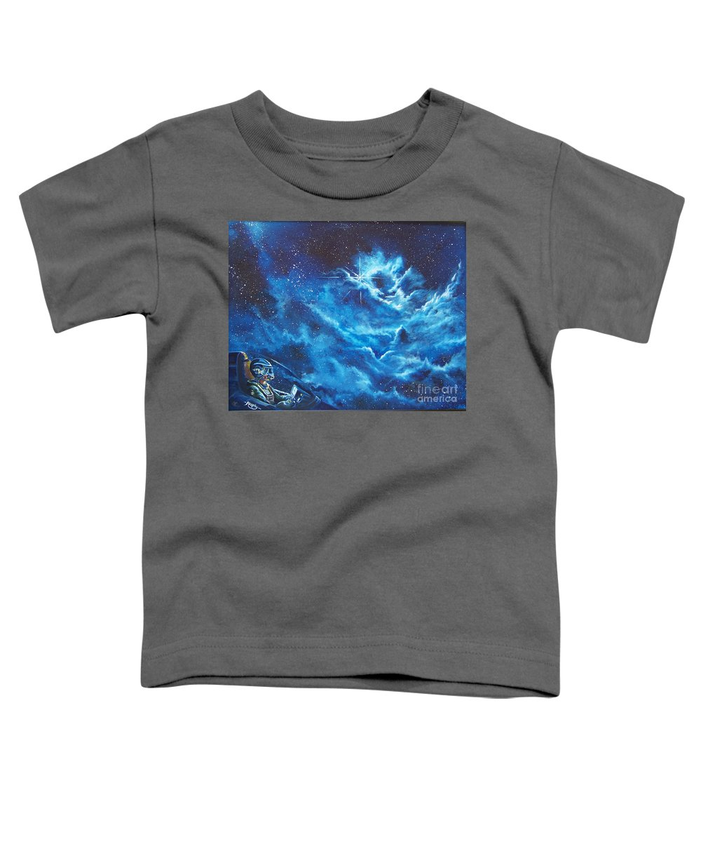 Astro Toddler T-Shirt featuring the painting Heavens Gate by Murphy Elliott