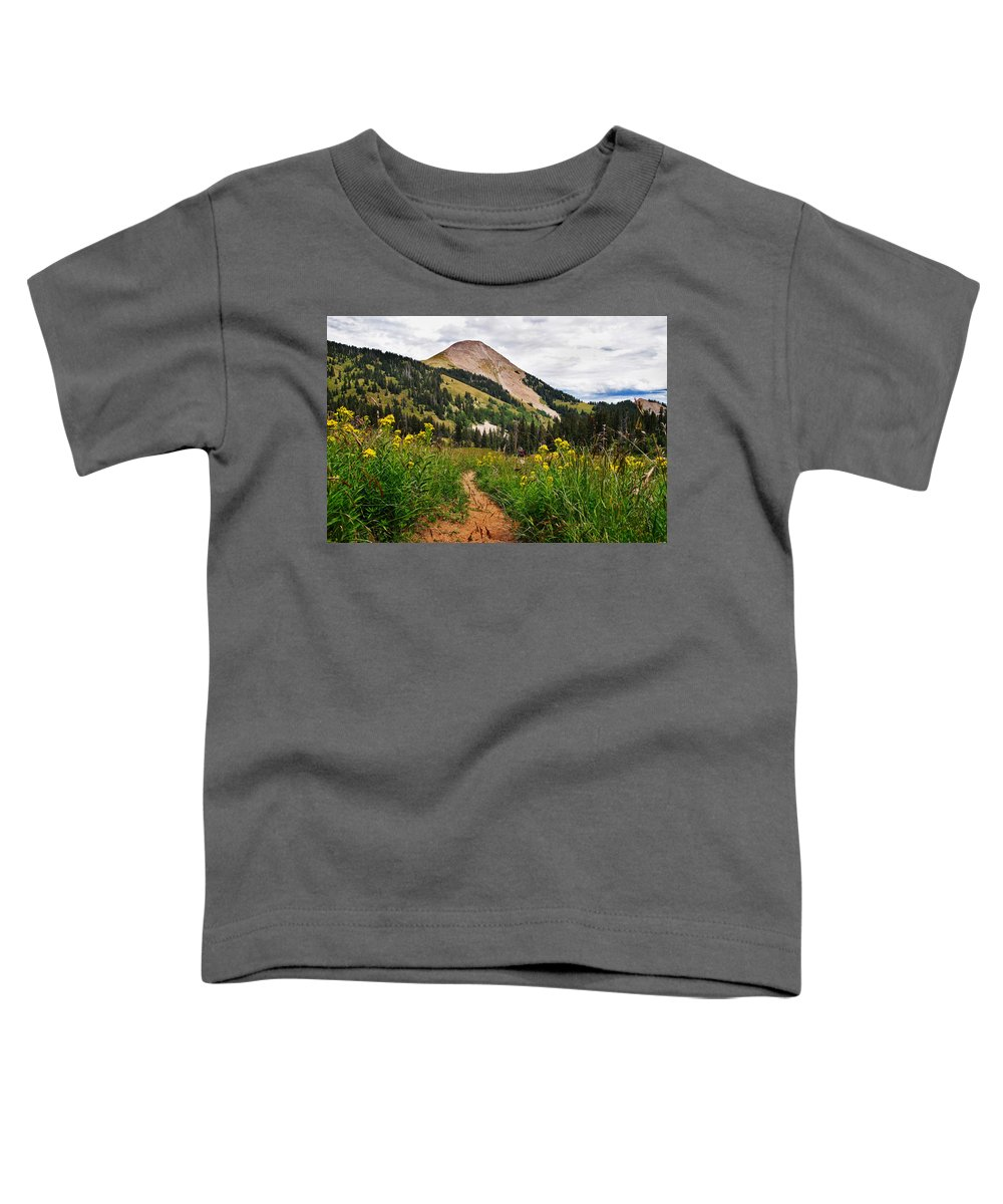 3scape Toddler T-Shirt featuring the photograph Hiking In La Sal by Adam Romanowicz