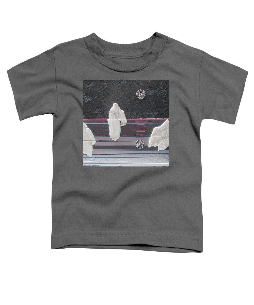 Assemblage Toddler T-Shirt featuring the mixed media Ice Bergs by Elaine Booth-Kallweit