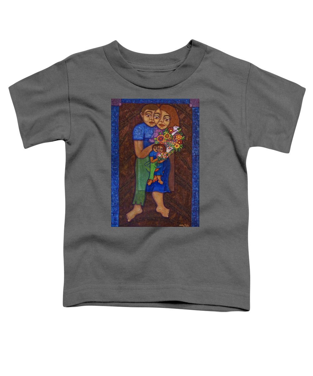 Invention Of Love Toddler T-Shirt featuring the painting Invention Of Love by Madalena Lobao-Tello