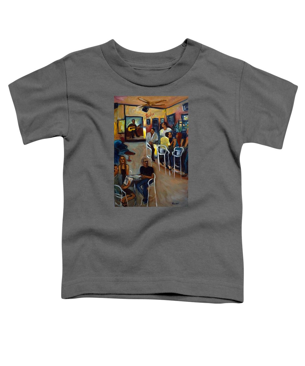 Art Bar Toddler T-Shirt featuring the painting Kevro's Art Bar by Valerie Vescovi