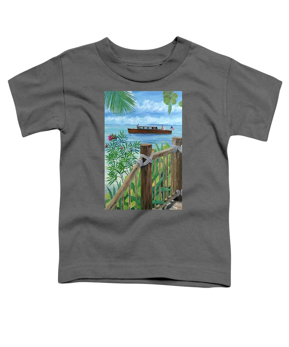 Island Toddler T-Shirt featuring the painting Little Palm Island by Danielle Perry