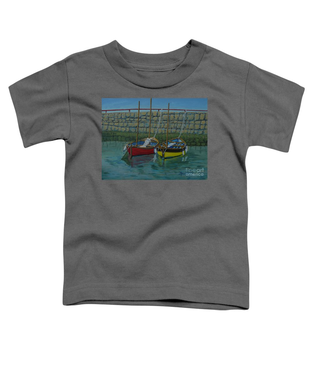 Rock Toddler T-Shirt featuring the painting Low Tide by Anthony Dunphy