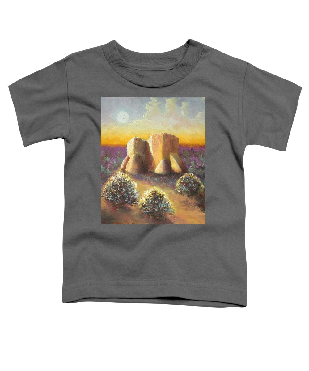 Landscape Toddler T-Shirt featuring the painting Mission Imagined by Jerry McElroy