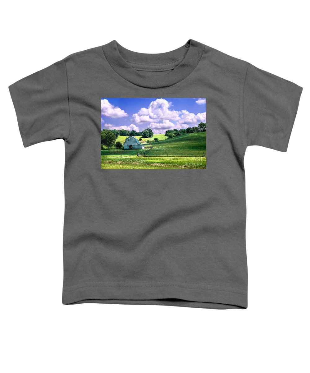 Landscape Toddler T-Shirt featuring the photograph Missouri River Valley by Steve Karol