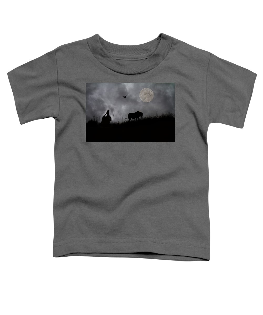 Full Toddler T-Shirt featuring the digital art A Tale Of Shackleford by Betsy Knapp
