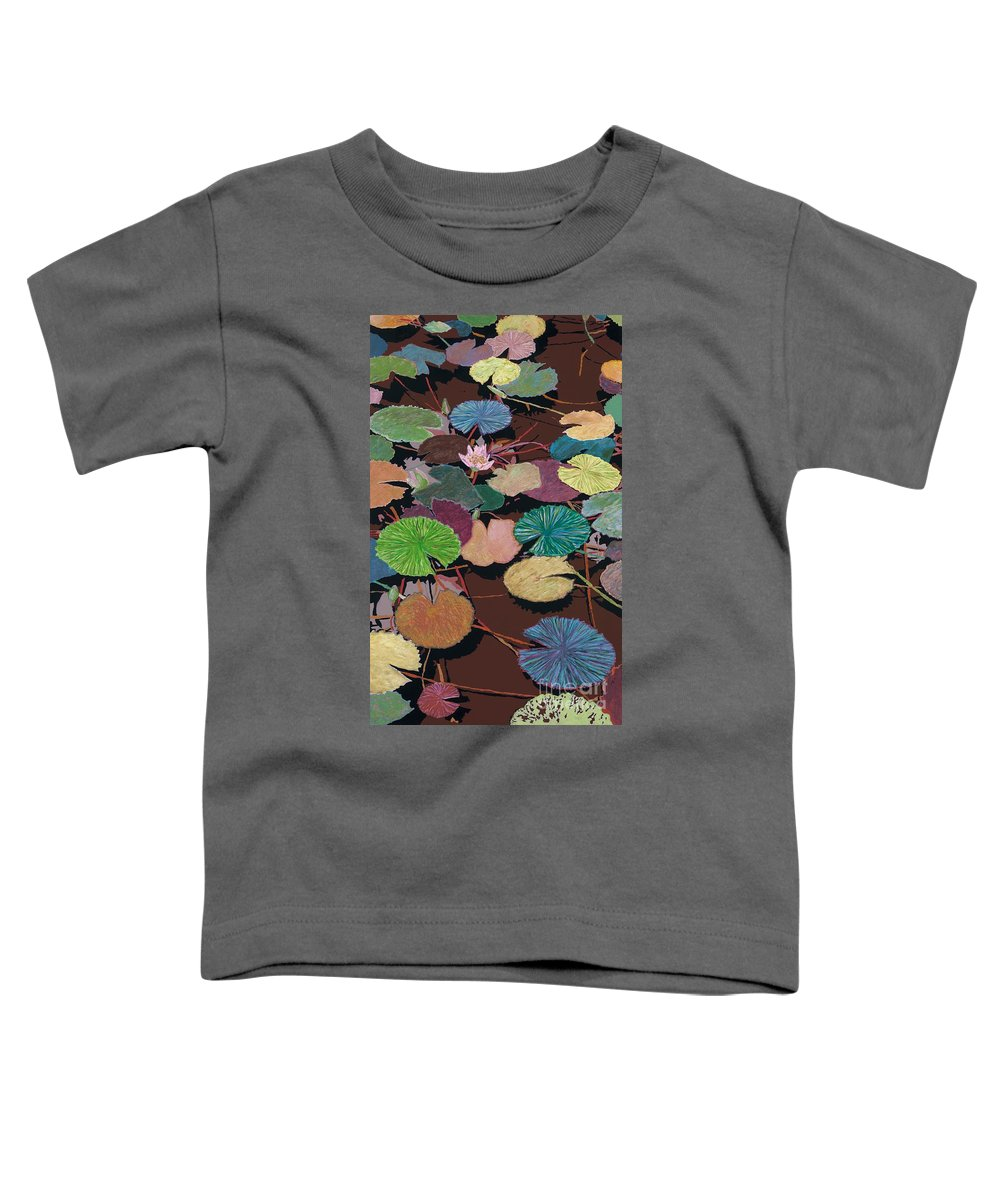 Landscape Toddler T-Shirt featuring the painting Muddy Waters by Allan P Friedlander