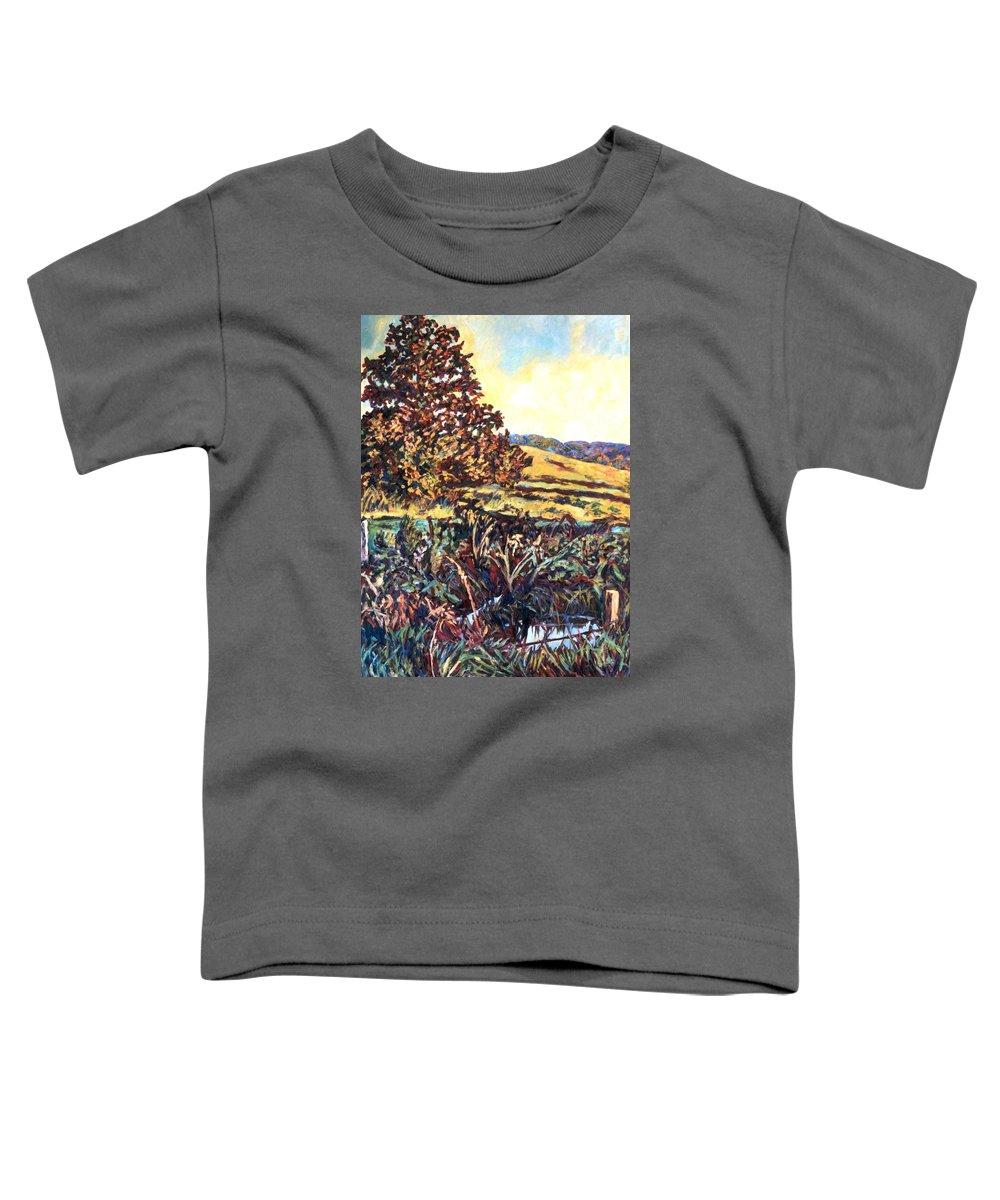 Landscape Toddler T-Shirt featuring the painting Near Childress by Kendall Kessler