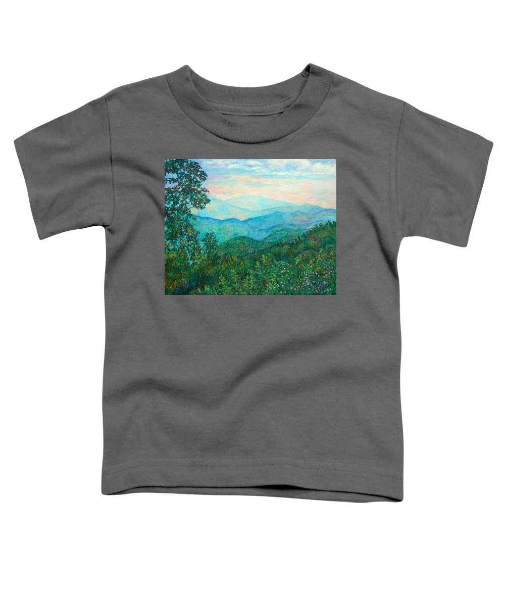 Landscape Toddler T-Shirt featuring the painting Near Purgatory by Kendall Kessler