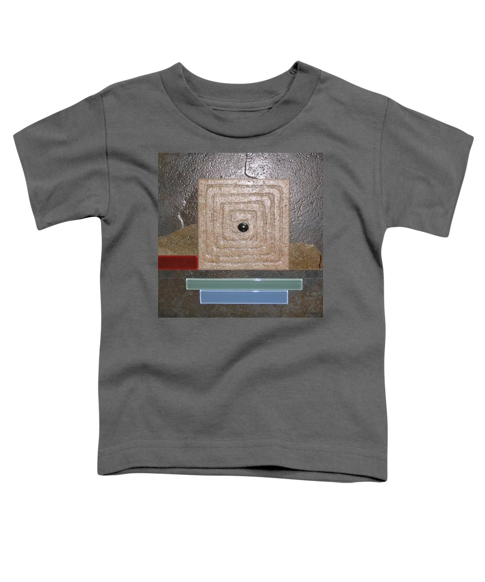 Assemblage Toddler T-Shirt featuring the relief New Moon by Elaine Booth-Kallweit