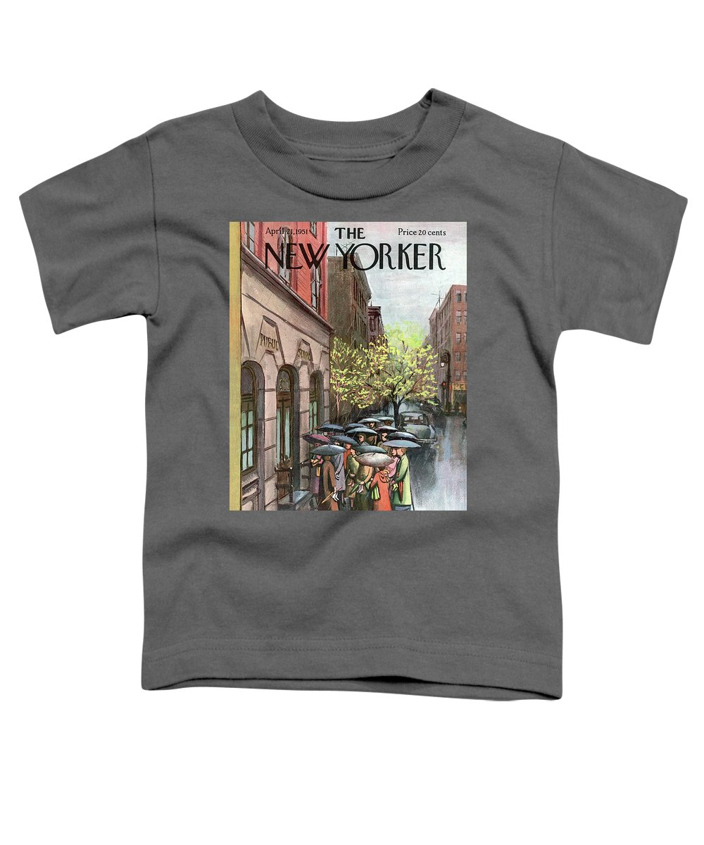 Urban Toddler T-Shirt featuring the painting New Yorker April 21st, 1951 by Arthur Getz